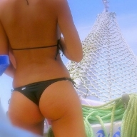 brasilian ass at the beach - Bikini Gap