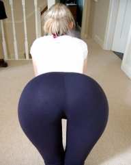 Bent over in yoga pants - Yoga Pants